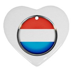 Luxembourg Nation Country Red Ornament (heart)