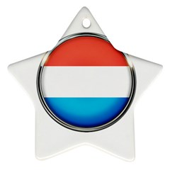 Luxembourg Nation Country Red Ornament (star)