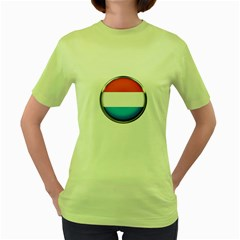 Luxembourg Nation Country Red Women s Green T Shirt