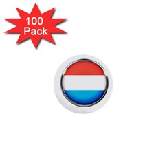Luxembourg Nation Country Red 1  Mini Buttons (100 Pack)  by Nexatart