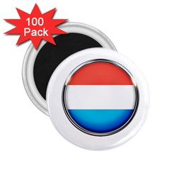 Luxembourg Nation Country Red 2 25  Magnets (100 Pack)