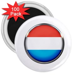Luxembourg Nation Country Red 3  Magnets (100 Pack)