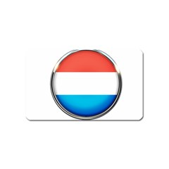 Luxembourg Nation Country Red Magnet (name Card)