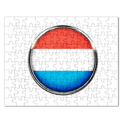 Luxembourg Nation Country Red Rectangular Jigsaw Puzzl