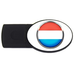 Luxembourg Nation Country Red Usb Flash Drive Oval (4 Gb)