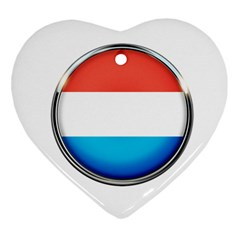 Luxembourg Nation Country Red Heart Ornament (two Sides)