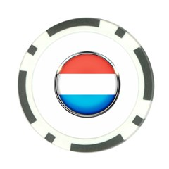 Luxembourg Nation Country Red Poker Chip Card Guard