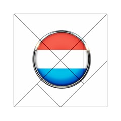 Luxembourg Nation Country Red Acrylic Tangram Puzzle (6  X 6 ) by Nexatart