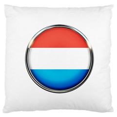 Luxembourg Nation Country Red Standard Flano Cushion Case (one Side)