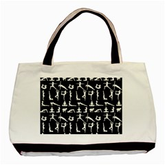 Yoga Pattern Basic Tote Bag by Valentinaart