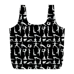 Yoga Pattern Full Print Recycle Bags (l)  by Valentinaart