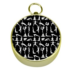 Yoga Pattern Gold Compasses by Valentinaart