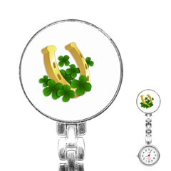 St  Patricks Day  Stainless Steel Nurses Watch by Valentinaart