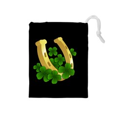 St  Patricks Day  Drawstring Pouches (medium)  by Valentinaart