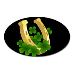 St  Patricks Day  Oval Magnet by Valentinaart