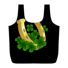 St  Patricks Day  Full Print Recycle Bags (l)  by Valentinaart
