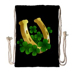 St  Patricks Day  Drawstring Bag (large)