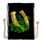 St. Patricks day  Drawstring Bag (Large) Back