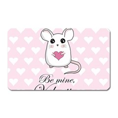 Cute Mouse   Valentines Day Magnet (rectangular) by Valentinaart