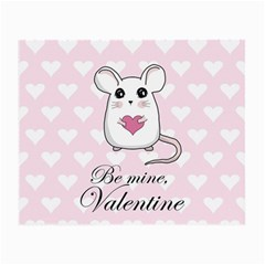 Cute Mouse   Valentines Day Small Glasses Cloth by Valentinaart