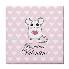 Cute Mouse   Valentines Day Face Towel by Valentinaart