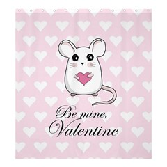 Cute Mouse   Valentines Day Shower Curtain 66  X 72  (large)  by Valentinaart