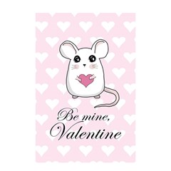 Cute Mouse   Valentines Day Shower Curtain 48  X 72  (small)  by Valentinaart