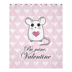 Cute Mouse   Valentines Day Shower Curtain 60  X 72  (medium)  by Valentinaart