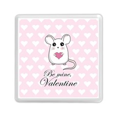 Cute Mouse   Valentines Day Memory Card Reader (square)  by Valentinaart