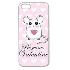 Cute Mouse   Valentines Day Apple Seamless Iphone 5 Case (clear) by Valentinaart