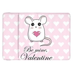 Cute Mouse   Valentines Day Samsung Galaxy Tab 8 9  P7300 Flip Case by Valentinaart