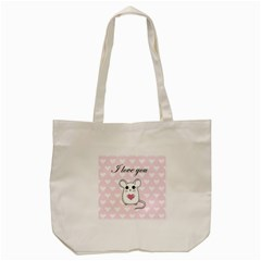 Cute Mouse   Valentines Day Tote Bag (cream) by Valentinaart
