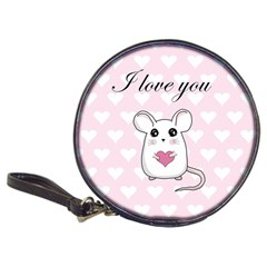 Cute Mouse   Valentines Day Classic 20 Cd Wallets by Valentinaart