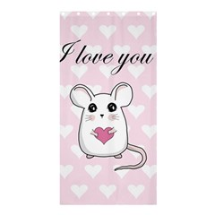 Cute Mouse   Valentines Day Shower Curtain 36  X 72  (stall)  by Valentinaart