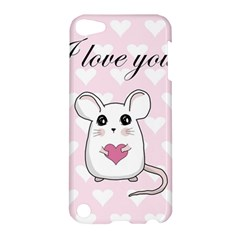 Cute Mouse   Valentines Day Apple Ipod Touch 5 Hardshell Case by Valentinaart