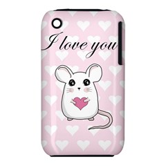 Cute Mouse   Valentines Day Iphone 3s/3gs by Valentinaart