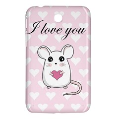 Cute Mouse   Valentines Day Samsung Galaxy Tab 3 (7 ) P3200 Hardshell Case  by Valentinaart
