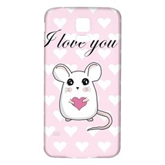 Cute Mouse   Valentines Day Samsung Galaxy S5 Back Case (white) by Valentinaart