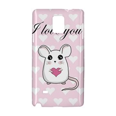 Cute Mouse   Valentines Day Samsung Galaxy Note 4 Hardshell Case by Valentinaart