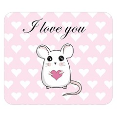 Cute Mouse   Valentines Day Double Sided Flano Blanket (small)  by Valentinaart