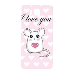 Cute Mouse   Valentines Day Samsung Galaxy Alpha Hardshell Back Case by Valentinaart