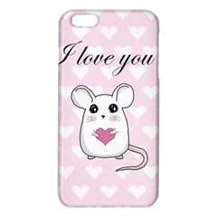 Cute Mouse   Valentines Day Iphone 6 Plus/6s Plus Tpu Case