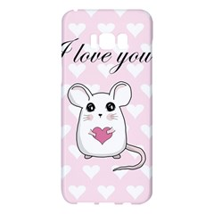 Cute Mouse   Valentines Day Samsung Galaxy S8 Plus Hardshell Case  by Valentinaart