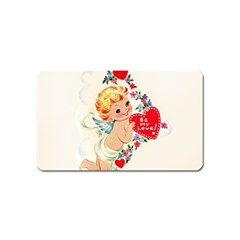 Cupid   Vintage Magnet (name Card) by Valentinaart