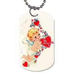 Cupid   Vintage Dog Tag (two Sides) by Valentinaart