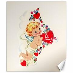 Cupid   Vintage Canvas 20  X 24   by Valentinaart