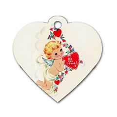 Cupid   Vintage Dog Tag Heart (one Side) by Valentinaart
