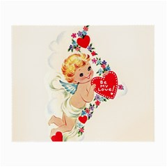 Cupid   Vintage Small Glasses Cloth (2 Side) by Valentinaart