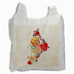 Cupid   Vintage Recycle Bag (one Side) by Valentinaart