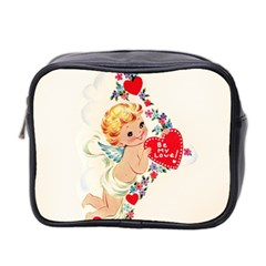 Cupid   Vintage Mini Toiletries Bag 2 Side by Valentinaart